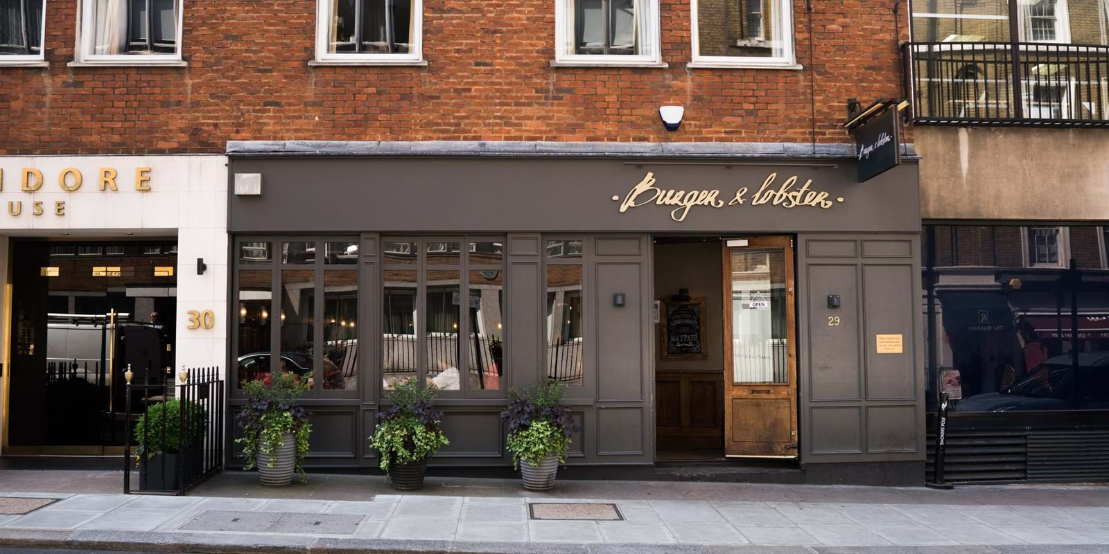 Burger & Lobster Restaurant Front In Mayfair